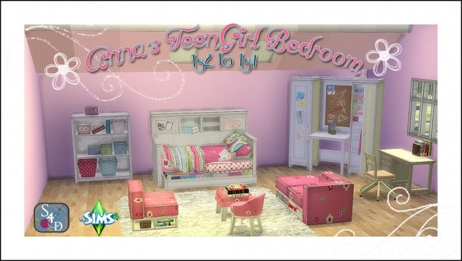 2T4 Annas Teen Girl Bedroom At Daer0n U2013 Sims 4 Designs Image 1533 670x379  Sims 4 ...