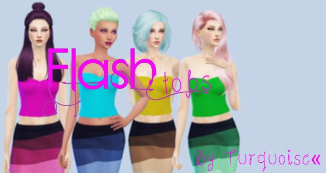Sims 4 Four top sets by Turquoise at Sims Fans