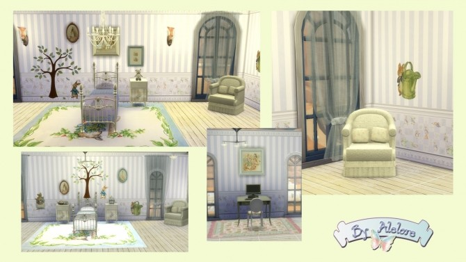 PETER RABBIT deco set at Alelore Sims Blog image 1543 670x377 Sims 4 Updates
