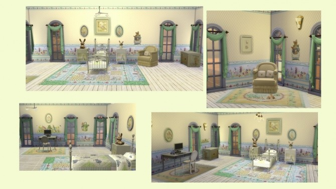 Sims 4 PETER RABBIT deco set at Alelore Sims Blog