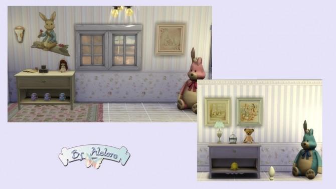 PETER RABBIT deco set at Alelore Sims Blog image 1573 670x377 Sims 4 Updates