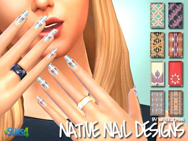 Sims 4 Native Nail Designs by Waterwoman at Akisima
