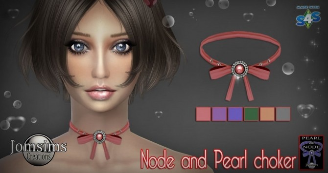 Medila necklace + node & pearl choker at Jomsims Creations image 16212 670x355 Sims 4 Updates