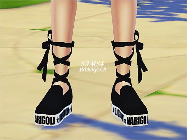 Sims 4 Platform ribbon slip on at Marigold