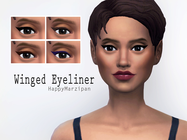 Sims 4 Winged Eyeliner by HappyMarzipan at TSR