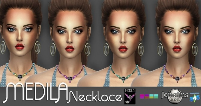 Medila necklace + node & pearl choker at Jomsims Creations image 1639 670x355 Sims 4 Updates