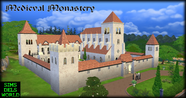 Medieval Monastery at SimsDelsWorld image 1645 Sims 4 Updates