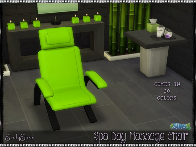 Spa Day Massage Chair At Srslysims 187 Sims 4 Updates