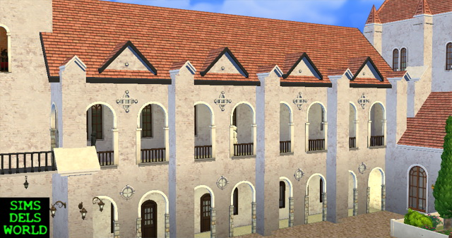 Medieval Monastery at SimsDelsWorld image 1655 Sims 4 Updates
