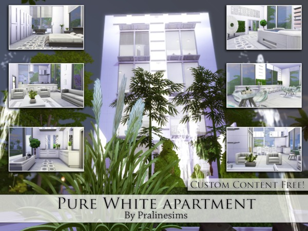 Pure White Apartment by Pralinesims at TSR image 1658 Sims 4 Updates