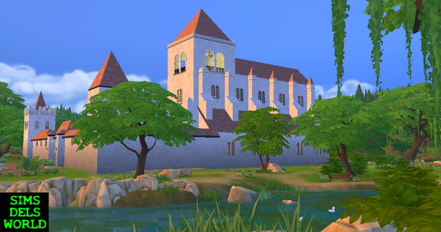 Medieval Monastery at SimsDelsWorld image 1665 Sims 4 Updates