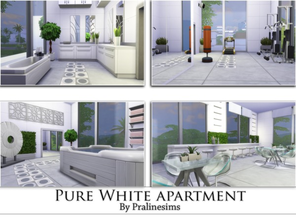 Pure White Apartment by Pralinesims at TSR image 1678 Sims 4 Updates
