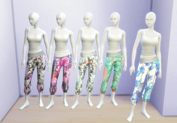 Sims 4 Recolors of EA's Spa Day Sweatpants at Clever simblr
