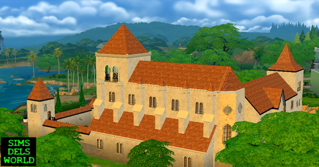 Medieval Monastery at SimsDelsWorld image 1684 Sims 4 Updates