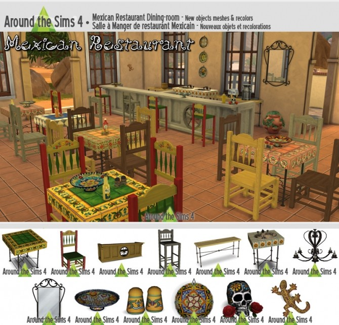 Sims 4 Mexican Restaurant at Around the Sims 4