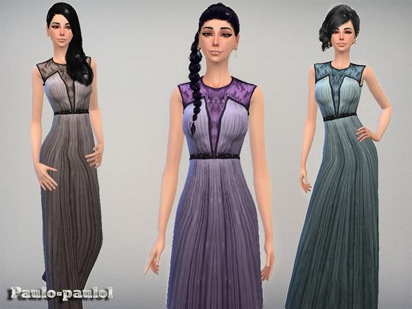 Sims 4 AL dress by paulo paulol at TSR