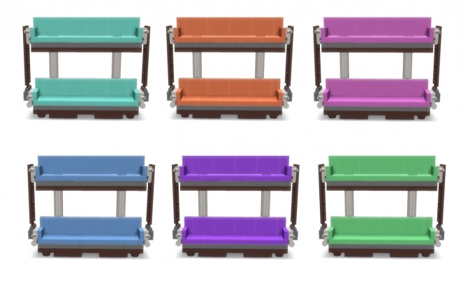 Sims 4 Double Decker Couch at Lunararc
