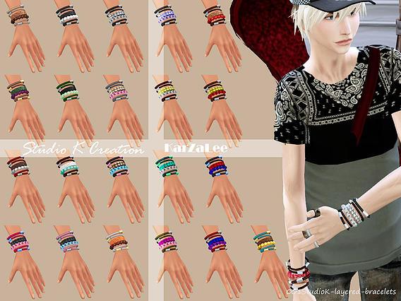 Layered Bracelets At Studio K Creation 187 Sims 4 Updates