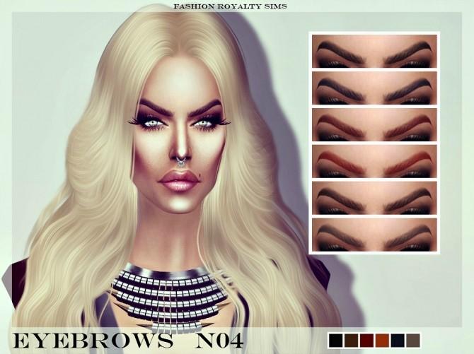 Sims 4 Eyebrows N04 at Fashion Royalty Sims