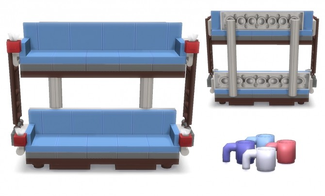 double decker couch at lunararc sims 4 updates. Black Bedroom Furniture Sets. Home Design Ideas