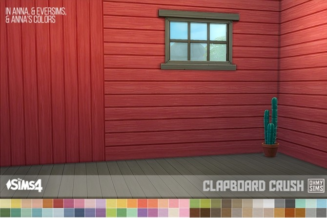 Sims 4 Horizontal Clapboard at Oh My Sims 4