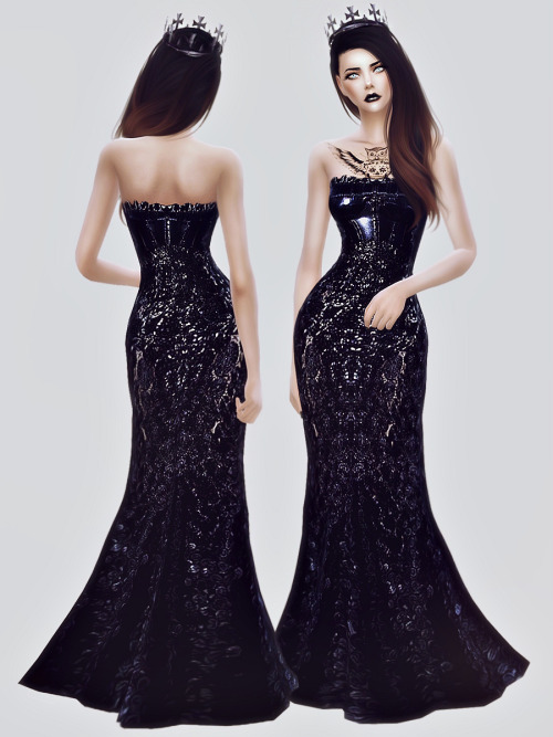 Black Gown At Fashion Royalty Sims 187 Sims 4 Updates