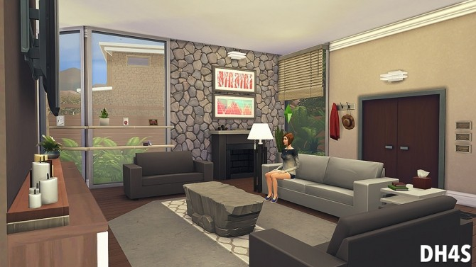 Sims 4 The 21st Livingroom at DH4S
