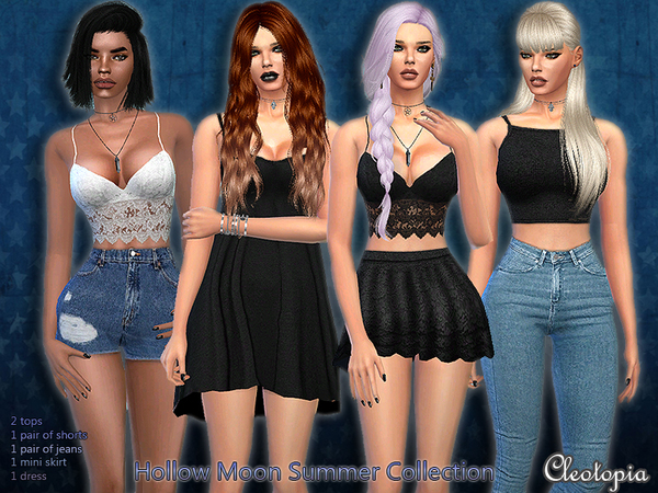 Sims 4 Set38 The Hollow Moon Summer Collection by Cleotopia at TSR