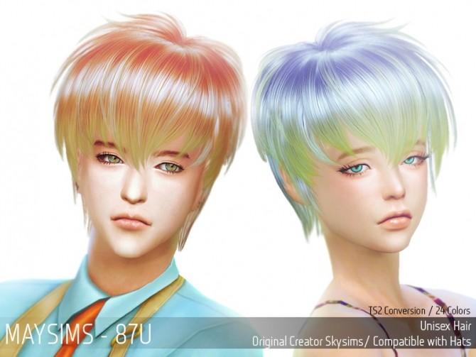 Sims 4 Hair 87U (SkySims) at May Sims