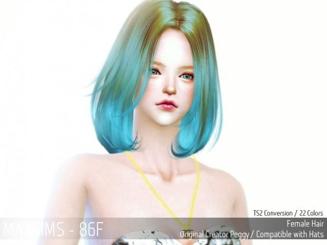 Sims 4 Hair 86F (Peggy) at May Sims