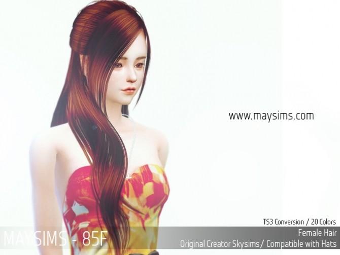 Hair 85F (Skysims) at May Sims image 1789 670x503 Sims 4 Updates