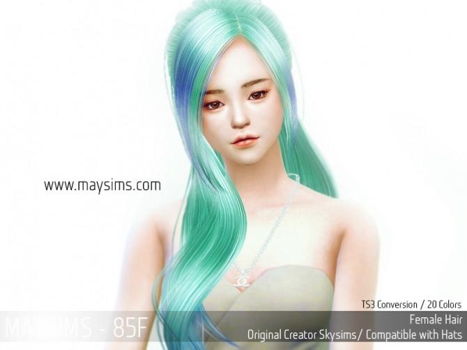 Hair 85F (Skysims) at May Sims image 17910 670x503 Sims 4 Updates