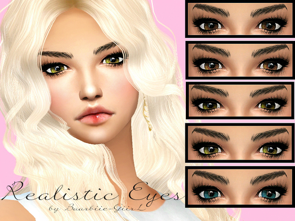 Realistic Eyes by Baarbiie-GiirL at TSR » Sims 4 Updates