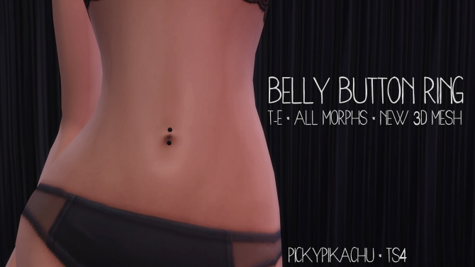 Belly Button Ring At Pickypikachu 187 Sims 4 Updates