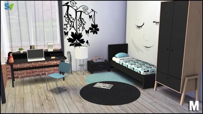 Sims 4 Greg teenroom at Mango Sims