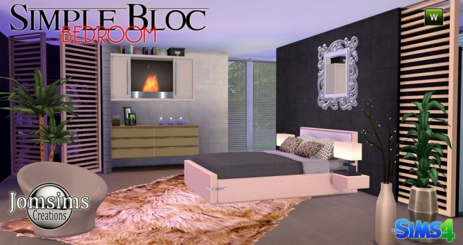 Simple Bedroom Updates simple bloc bedroom at jomsims creations » sims 4 updates