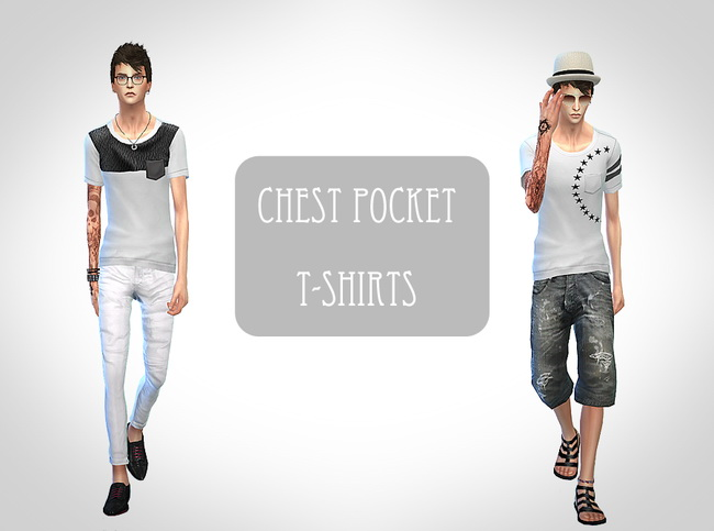 Chest pocket t shirt at ChiisSims – Chocolatte Sims image 18310 Sims 4 Updates