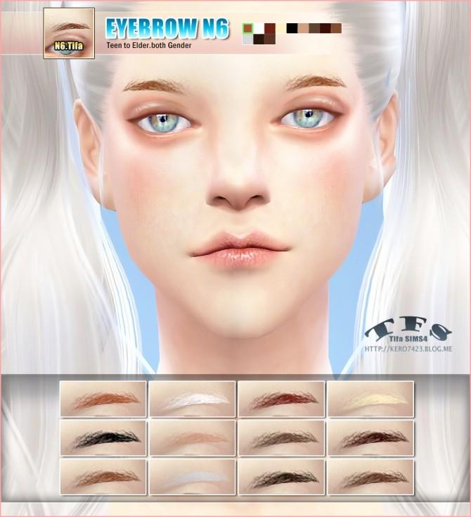 Sims 4 Eyebrows N6 at Tifa Sims