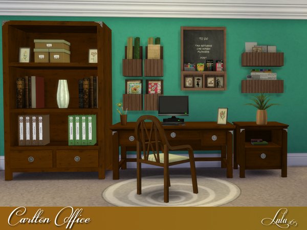Sims 4 Carlton Office by Lulu265 at TSR