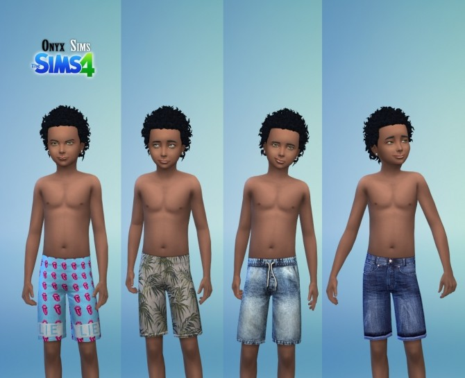 Sims 4 Child Male Shorts Collection No.1 at Onyx Sims