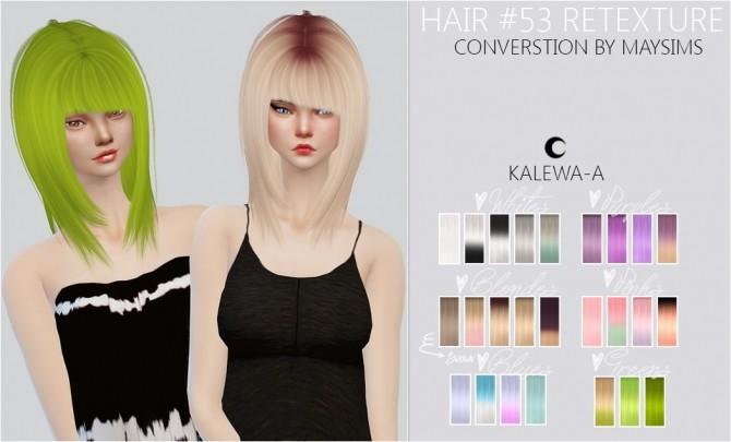 Sims 4 Hair #53 Re texture at Kalewa a