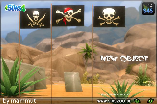 Sims 4 Pirate flag by mammut at Blacky's Sims Zoo