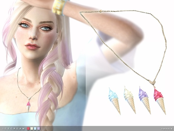 Sims 4 Ice Cream Necklace by toksik at TSR