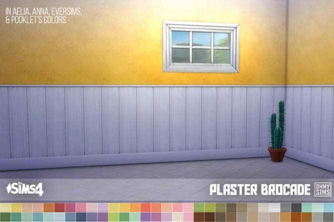 Sims 4 Brocade Accented Paneled Wall at Oh My Sims 4