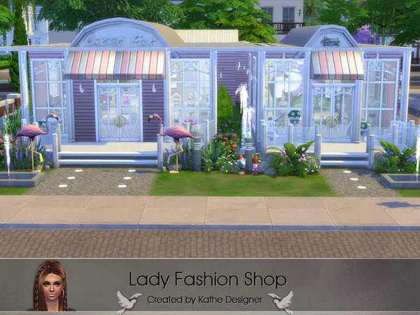 Sims 4 Lady Fashion Shop by KatheDesigner at TSR