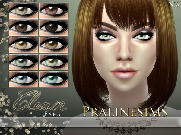 Sims 4 Clean Eyes by Pralinesims at TSR