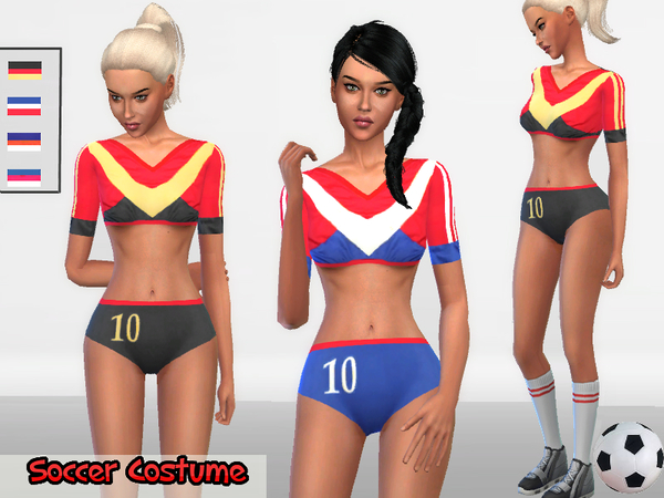Sims 4 Soccer Costume by Puresim at TSR