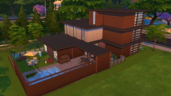 Sims 4 Flexa house by MadameChaos at Blacky's Sims Zoo