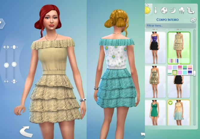 Lacy Frills Dress At My Stuff 187 Sims 4 Updates