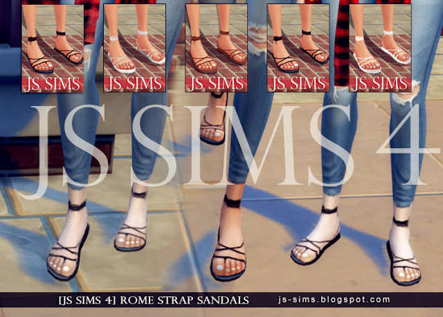 Rome Strap Sandals With Toes Nail At Js Sims 4 187 Sims 4